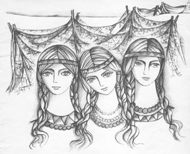 У одной женщины было  3 дочери.