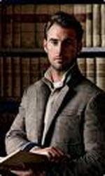 мужчина в костюме, мужчина с книгой, мужчина и книги