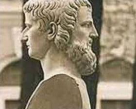 двуликий мужчина, Янус, скульптура мужчины