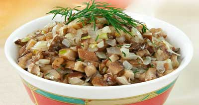 грибная икра, холодная закуска, овощное блюдо