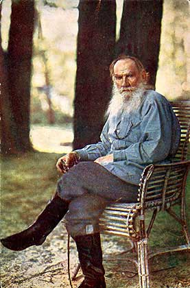 Лев Толстой, писатель, мужчина с бородой