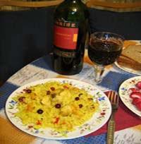 плов и вино
