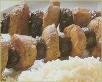 шашлык с рисом
