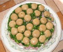 Грибные салаты