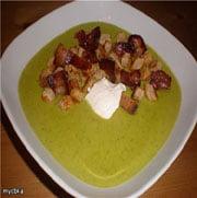 Гороховый суп со сметаной