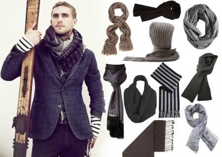 Как мужчинам носить кашне