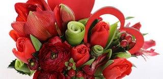 Выбор букета к Дню святого Валентина